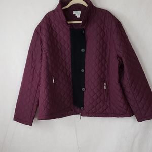 GREAT NORTHWEST quilted maroon plus size jacket 3x
